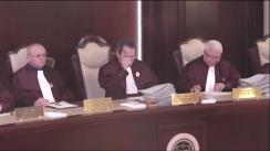 Ședința publică a Curții Constituționale a României din 11 mai 2017