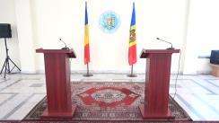Conferință de presă dedicată celei de-a IV–a sesiuni a Comisiei Interguvernamentale Republica Moldova–România pentru Integrare Europeană
