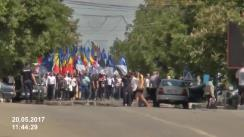 """Acțiune de protest """"Pentru Moldova liberă"""" în Comrat organizată de Partidul Nostru"""