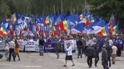 """Acțiune de protest """"Pentru Moldova liberă"""" în Bălți organizată de Partidul Nostru"""