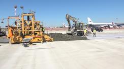 AviaInvest finalizează lucrările de reconstrucție la primul segment a suprafețelor de lucru ale aerodromului la Aeroportul Internațional Chișinău