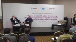 """Conferința internațională """"Opțiuni și rațiuni în reformarea sistemului electoral din Republica Moldova. Experiențe internaționale comparate"""""""