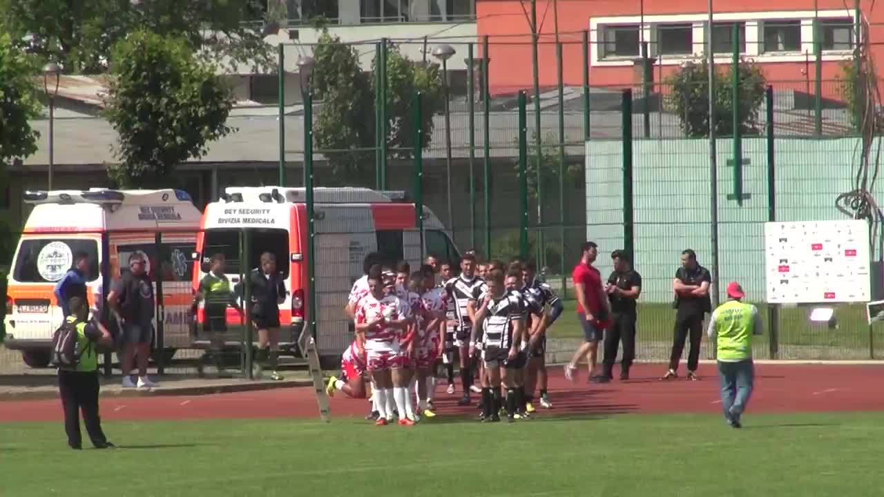 Meciul de Rugby între CS Universitatea Cluj - CS Dinamo București. SuperLiga CEC BANK 2016-2017. Play-Out 3