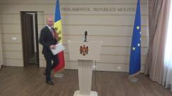 Declarațiile lui Pavel Filip în timpul ședinței Parlamentului Republicii Moldova din 26 mai 2017