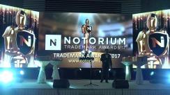 Gala festivă de decernare a învingătorilor Notorium Trademark Awards 2017