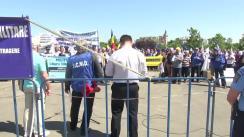 Miting de protest față de prevederile proiectului legii-cadru de salarizare a personalului plătit din fonduri publice