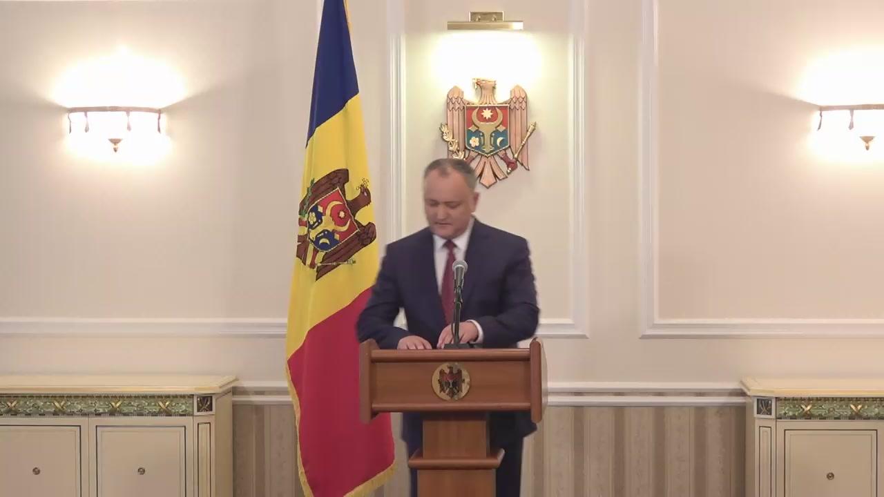 Conferință de presă susținută de Președintele Republicii Moldova, Igor Dodon