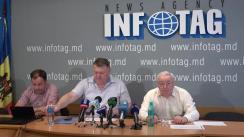 """Conferință de presă organizată de Asociația Sociologilor și Demografilor din Republica Moldova cu tema """"Studiu sociologic: Percepția populației a rolului mass-media în democratizarea societății din Republica Moldova"""""""