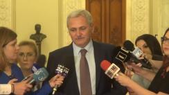 Declarație de presă susținută de Președintele Camerei Deputaților, Liviu Dragnea