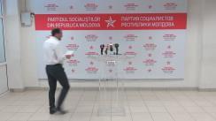 """Conferință de presă organizată de consilierii municipali PSRM cu tema """"Situația cu privire la evacuarea gunoiului din Chișinău, ce se întâmplă de fapt?"""""""