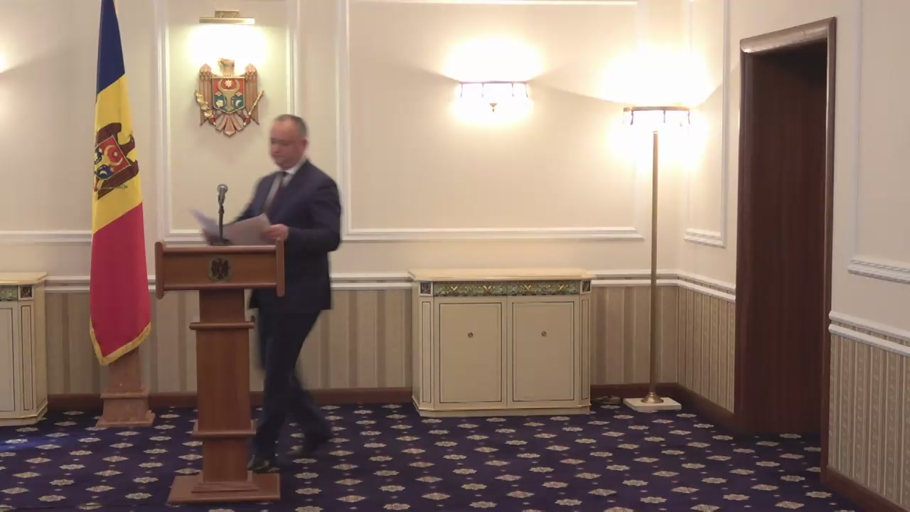 Declarațiile Președintelui Republicii Moldova, Igor Dodon, după ședința Consiliului Suprem de Securitate din 6 iunie 2017