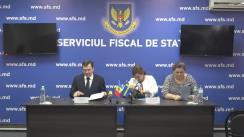 Briefing susținut de directorul Serviciului Fiscal de Stat, Serghei Pușcuța și E.S. Ambasadoare a Suediei în Moldova, Signe Burgstaller
