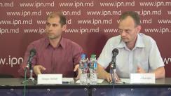 """Conferință de presă susținută de experții Sergiu Tofilat și Denis Cenușă cu tema """"Ce riscuri sunt pentru Moldova dacă vom procura energia de la MoldGRES"""""""