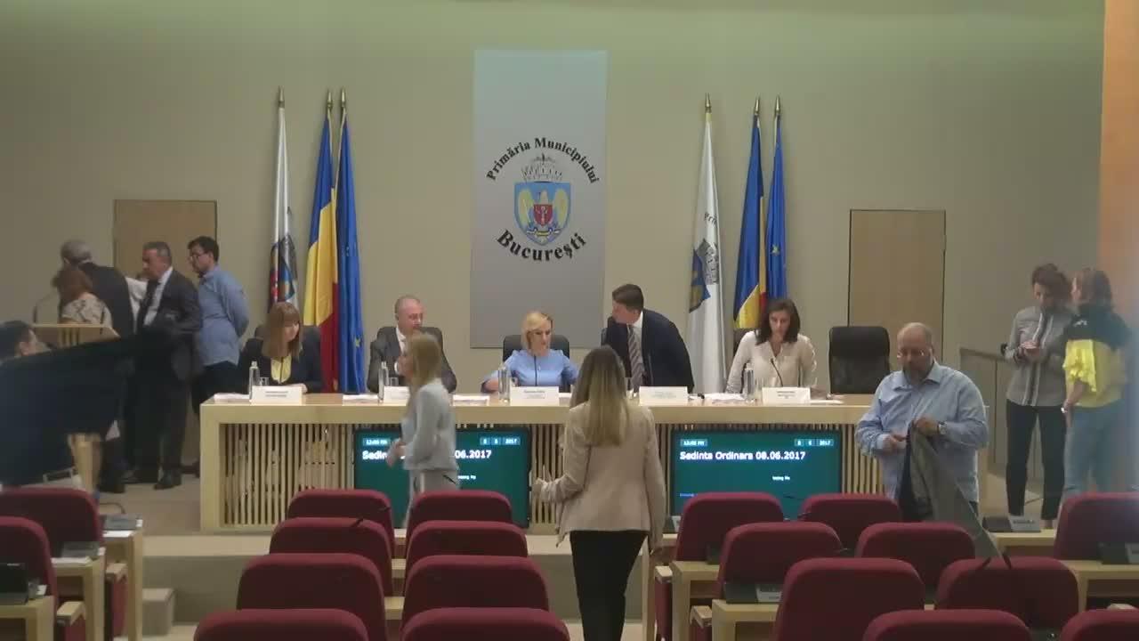 Ședința Consiliului General al Municipiului București din 8 iunie 2017