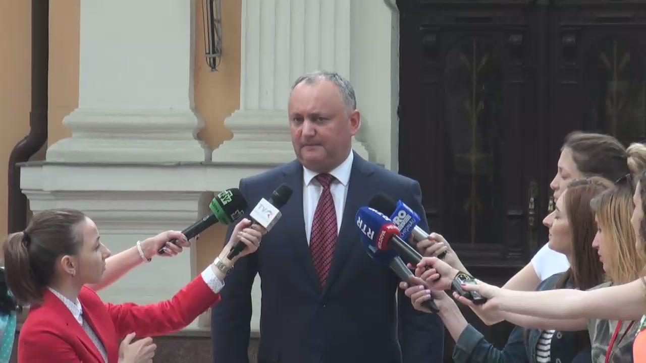 Declarație de presă susținută de Președintele Republicii Moldova, Igor Dodon