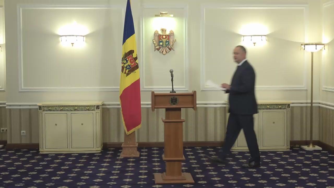 Declarațiile lui Igor Dodon privind lansarea Platformei Consiliului Societății Civile