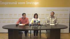 """Conferință de presă organizată de Partidul Acțiune și Solidaritate cu tema """"Regimul Plahotniuc-Dodon împinge Republica Moldova în zona dictaturii"""""""