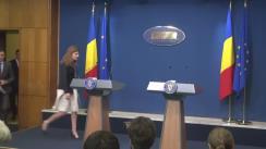 Declarație de presă susținută de Premierul României, Sorin Grindeanu