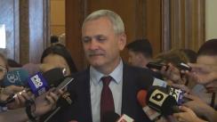 Declarațiile lui Liviu Dragnea înainte de Comitetul Executiv Național al Partidului Social Democrat