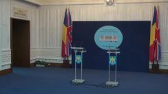 Declarații de presă susținute de Ministrul Apărării Naționale, Gabriel Leș, și ministrul apărării al Regatului Unit al Marii Britanii și Irlandei de Nord, Michael Fallon
