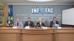 """Conferință de presă susținută de reprezentanții Partidului ȘOR și avocații Iulian Balan și Denis Ulanov cu tema """"Rezultatele vizitei oficiale a delegației Partidului ȘOR la Parlamentul European"""""""