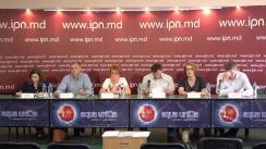 """Conferință de presă organizată de Transparency International-Moldova, Asociația pentru Democrație Participativă """"ADEPT"""", IDIS """"Viitorul"""" și Centrul pentru Resurse Juridice din Moldova prilejuită de lansarea studiului privind capturarea statului Republica Moldova"""