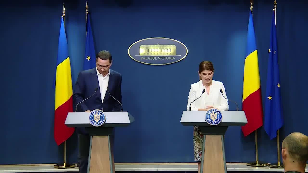 Declarații de presă susținute de Secretarul General al Guvernului României, Victor Ponta