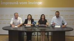 """Conferință de presă organizată de Partidul Acțiune și Solidaritate cu tema """"Opinia Comisiei de la Veneția pe marginea schimbării sistemului electoral și riscurile iminente în caz de nerespectare a recomandărilor acesteia"""""""