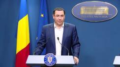Declarație de presă susținute de Secretarul General al Guvernului României, Victor Ponta