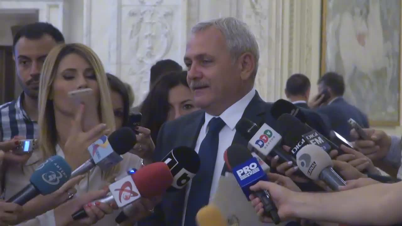 Declarația lui Liviu Dragnea după citirea moțiunii de cenzură împotriva Guvernului condus de Sorin Grindeanu în cadrul ședinței comune a Senatului și Camerei Deputaților României din 18 iunie 2017