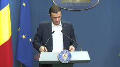 Declarație de presă susținută de Premierul României, Sorin Grindeanu, înainte de citirea moțiunii de cenzură