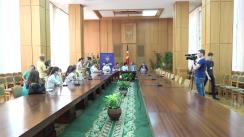 Conferință de presă organizată de Ambasada României în Republica Moldova și Ministerul Educației al Republicii Moldova