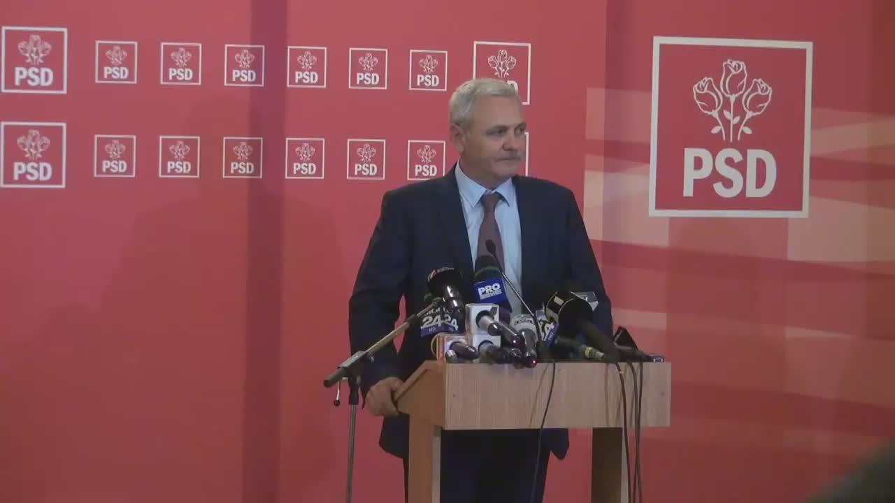 Declarație de presă susținută Președintele PSD, Liviu Dragnea, după votul asupra Moțiunii de cenzură împotriva Guvernului condus de Sorin Grindeanu