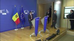 Conferință de presă susținută de Premierul Republicii Moldova, Pavel Filip, și Comisarul european pentru politica de vecinătate și negocieri de extindere, Johannes Hahn