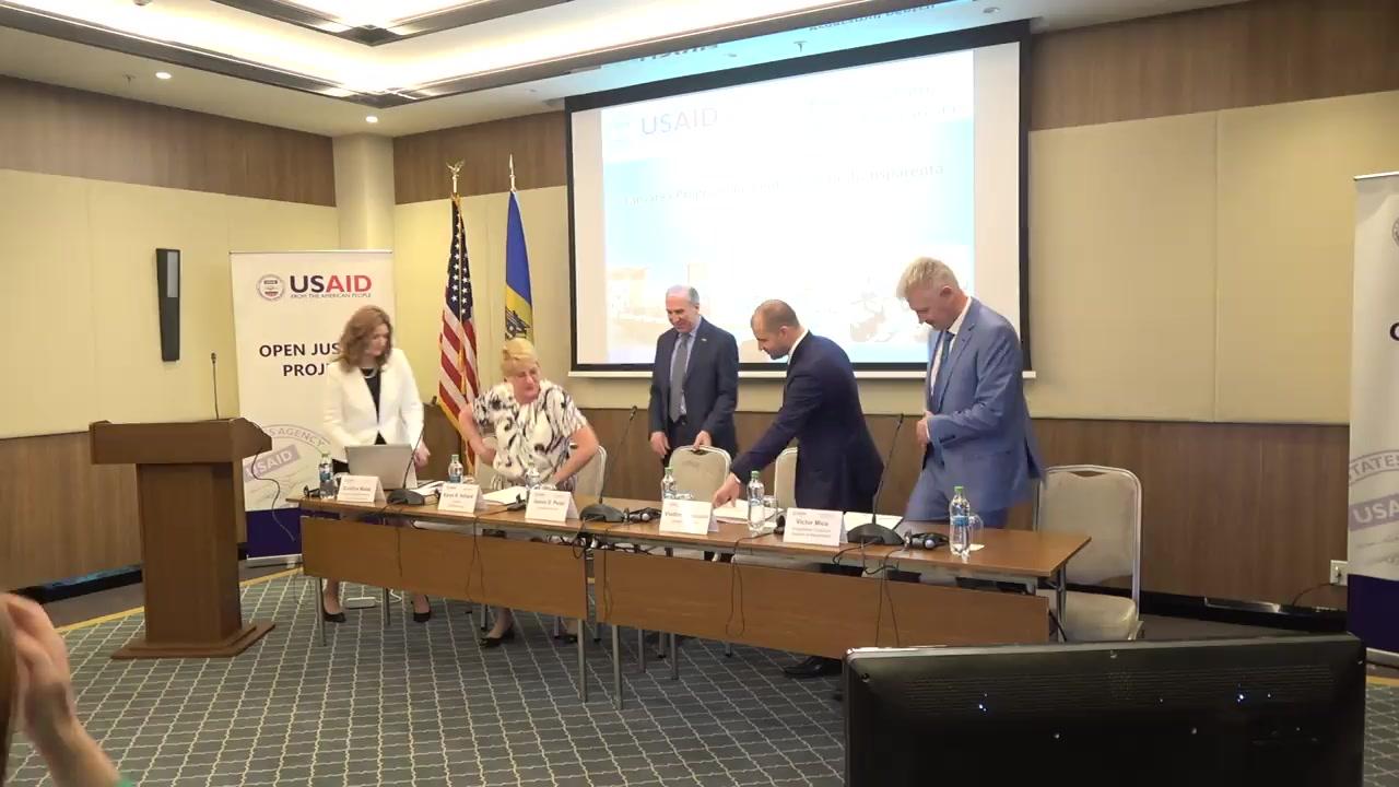 """Lansarea oficială a Proiectului """"Justiție Transparentă"""", eveniment organizat de către USAID"""