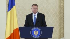 Declarație de presă susținută de Președintele României, Klaus Iohannis, după consultările cu grupurile parlamentare