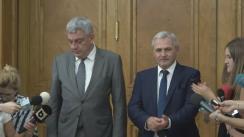 Declarații de presă după întâlnirea Primului Ministru desemnat, Mihai Tănase, și Președintele PSD, Liviu Dragnea, cu grupul parlamentar UDMR