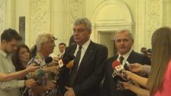 Declarațiile lui Liviu Dragnea după votul de încredere dat noului Guvern condus de Mihai Tudose