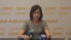 """Conferință de presă cu tema """"Motivele din care Partidul Acțiune și Solidaritate nu va participa la dezbaterile de astăzi pe schimbarea sistemului electoral"""""""