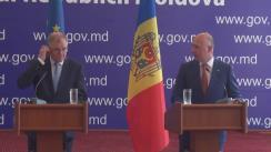 Conferință de presă susținută de Premierul Republicii Moldova, Pavel Filip, și Comisarul european pentru sănătate, Vytenis Andriukatis