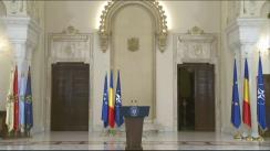 Conferință de presă susținută de Președintele României, Klaus Iohannis, după ședința Consiliului Suprem de Apărare a Țării