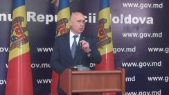 Briefing de presă susținut de Premierul Republicii Moldova, Pavel Filip, privind gestionarea deșeurilor menajere în municipiul Chișinău