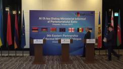 Conferință de presă susținută de Ministrul Economiei Republicii Moldova, Octavian Calmîc, și Comisarul European pentru Politica Europeană de Vecinătate și Negocieri de Extindere, Johannes Hahn, și Directorul General pentru Energie al Comisiei Europen, Dominique Ristori