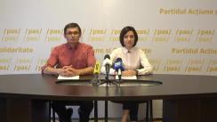 """Conferință de presă organizată de Partidul Acțiune și Solidaritate cu tema """"PD și PSRM fac front comun pentru a deturna reformele inițiate în domeniul educației"""""""