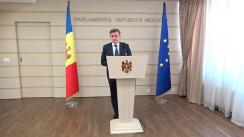 Declarațiile lui Iurie Ciocan după ședința Parlamentului Republicii Moldova din 14 iulie 2017