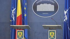 Declarație de presă susținută de ministrul de interne, Carmen Daniela Dan, și Ministrul Sănătății, Florian Bodog, privind implicarea factorilor de decizie de la nivel local privind acțiunile de vaccinare