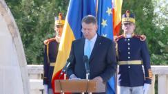 """Ceremonia oferirii Drapelului comemorativ """"Centenarul Bătăliei de la Mărăști"""""""