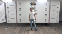 Conferința de presă și prezentarea echipamentului sportiv al echipei Republicii Moldova la Festivalul Olimpic al Tineretului European de la Gyor (Ungaria)