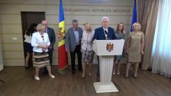 Declarația fracțiunii PCRM în timpul ședinței Parlamentului Republicii Moldova din 20 iulie 2017