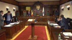 Ședința Curții Constituționale de examinare a sesizării pentru controlul constituționalității a decretului Președintelui Republicii Moldova privind desfășurarea referendumului republican consultativ